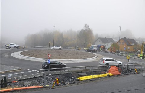 Ny rundkjøring i Bergmannsvei over Svartåstunnelen.
