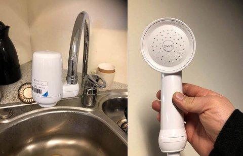 Filter: Nå er filter på plass, slik at dusjene på sykehuset kan tas i bruk.