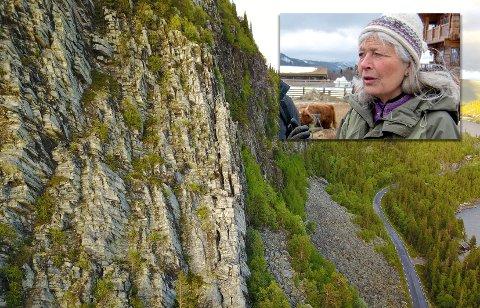 RAS: Dette bildet ble tatt i forkant av jobben og viser den utsatte strekningen på fv. 120 ved Tunhovdfjorden.