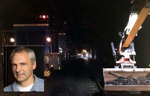 TUNNEL: Sommeren har gått med til tunnelarbeid i Lieråstunnelen for Hans Olav Hjartsjø, prosjektleder i NRC  Bane.