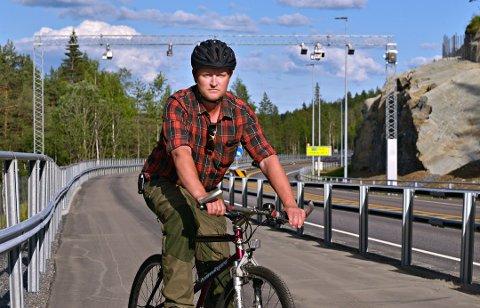 SLUTT: Det er slutt på bom-sykling for Rune Hagen.