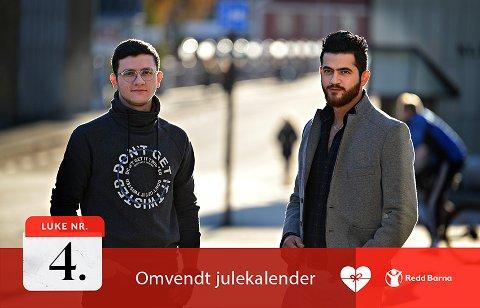 FLUKTEN FRA BORGERKRIGEN: Mohamed Shahm Asad (t.v.) måtte forlate hjemlandet Syria og har drømmer for en trygg fremtid i Norge.