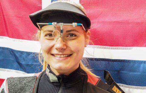 FIKK REISENEKT: Katrine Aannestad Lund og de andre norske skytterne, som skulle delta i verdenscupstevnet i India, fikk reisenekt av eget forbund. Foto: Norges Skytterforbund / NTB scanpix