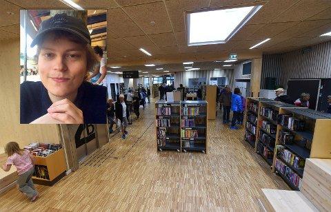 HOLDER SEG HJEMME: Henrik Mathisen har startet i biblioteksjef-jobben i Flesberg med hjemmekontor.