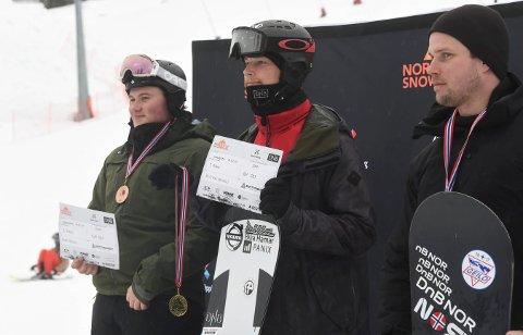 NORGESMESTER: KIFs Kristian Holmen vant seniorklassen foran Geilos Martin Bakken (t.h.) og Håvard Heggem, KIF. ALLE FOTO: OLE JOHN HOSTVEDT