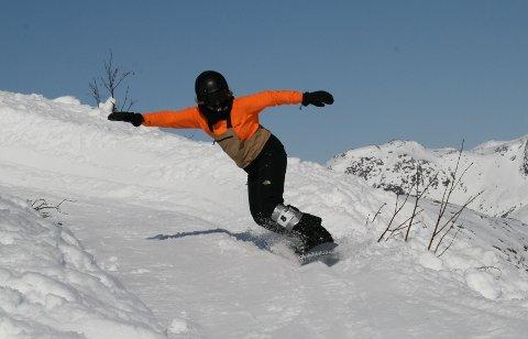 VANT: Helene Olafsen hadde tatt turen til Lofoten BNKD, og hun vant slalomrennet.