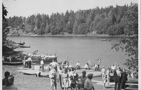 Elverhøy på femtitallet: Det er mange mossinger med kjære minner fra stedet hvor man dro på utflukt søndager i sommersol.
