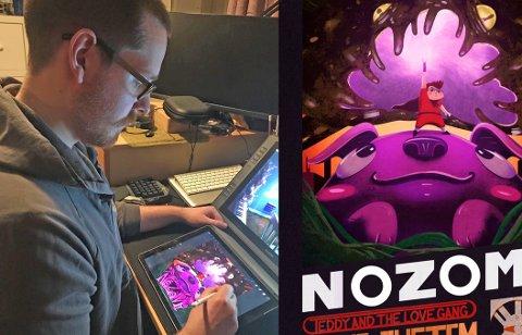 Håvard Glad har sittet uttallige timer bøyd over ipaden under arbeidet med musikkvideoen «Nozomi».