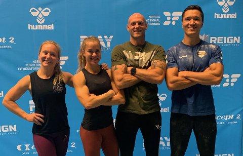 LAGET: Beata Wilmann (fra venstre), Thea Marie Kjærnes, Bjørn Reiten og Hans Henrik Bierke deltok i NM i crossfit som utøvere fra Moss Functional Fitness klubb (MFFK).