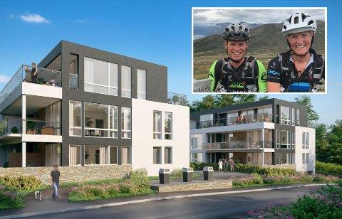 SPORTY PAR: Ronny Thomas Jenssen (41) og Ingvild Kiil Silli (38)  sammen kjøpt leilighet i nybyggprosjektet i Lagmann Lindboes vei 24 på Sverresborg.