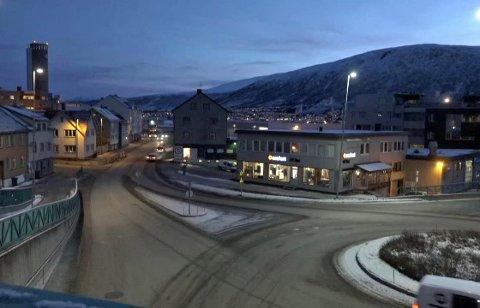 SOM NORMALT: Trafikken fløt uten problemer i Hansjordnesbukta onsdag morgen. Det til tross for en varslet kjør sakte-aksjon i protest mot bompenger i Tromsø.