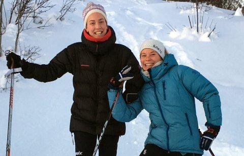 GAVMILD: Ina Isabella Høiland (t.h.) arrangerer et skikurs sammen med Hanne Karin Eriksen (t.v.), og vil heller at alle som deltar donerer penger enn å betale en påmeldingsavgift. Høiland har dratt veldedigheten enda lenger, og skal i tillegg til å løpe for organisasjonen Water Aid i Berlin også ønske at alt av gaver til både bursdag og disputas går til hjelpeorganisasjonen.