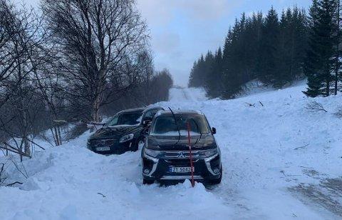 SKRED: Skredet som tok de to bilene var av betydelig størrelse.