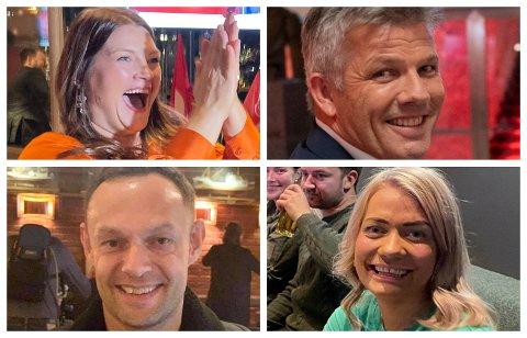 Cecilie Terese Myrseth (Ap), Bjærnar Skjæran (Ap), Torgeir Knag Fylkesnes (SV) og Sandra Borch (Sp) er fire av navnene Skjalg Fjellheim peker på når den nye regjeringskabalen legges. Foto: Nordlys