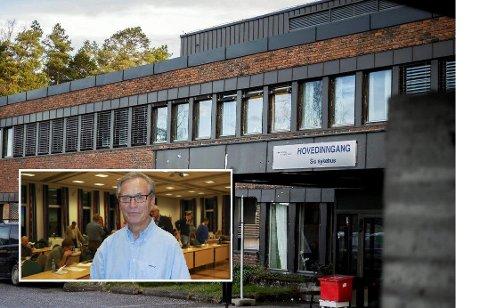 IKKE IMPONERT: Ola Øygard i Ski Sykehus' Venner (innfelt) er ikke imponert over navnet som er foreslått for Ski sykehus.