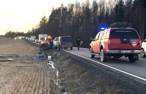 BEKKELAGET: Ulykken skjedde på fylkesvei 120 ved Bekkelaget.
