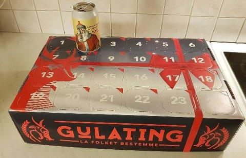 Produsenten melder om eksplosjonsfare i ølet i en av lukene i Gulatings julekalender. Foto: Kyrre Johansen