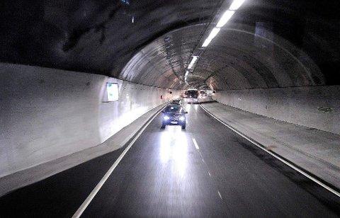 MÅLT AV UP: Den sivile UP-bilen foretok først én fartsmåling, Men da politibetjenten skulle stoppe Follo-mannens vil, økte han farten og dro på gjennom Nøstvettunnelen.