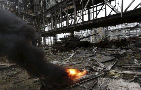 Lite trivelig: Donetsk i Ukraina er kanskje ikke det helt ideelle stedet å tilbringe førjulstiden.