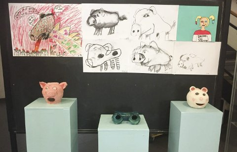 Utstilling: Her vises blant annet analoge høyttalere laget av keramikk.