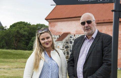 Spente: Karoline Løvall og Jon Jakobsen i Stavernlive er spente på publikumstilstrømmingen.