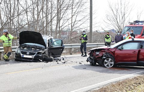 ULYKKE: Lørdag ettermiddag var det en trafikkulykke i Nansetgata.