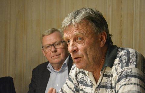 Elverums ordfører Erik Hanstad og varaordfører Arnfinn Uthus. (Foto: Cathrine Loraas Møystad)