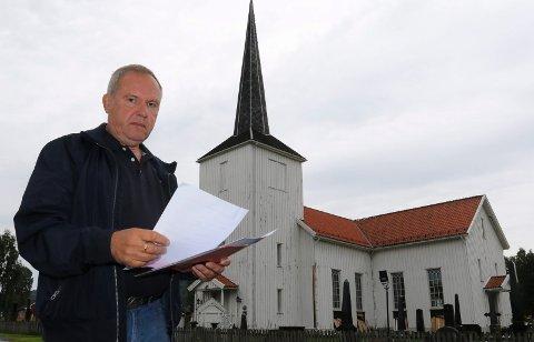 KRAVENE KLARE: – Vi har nå fått svar fra riksantikvar og biskop og prosessen går videre så fort som mulig, sier leder i Åsnes kirkelige fellesråd, Eivind Bergem.