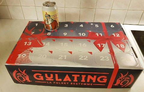 FARER OVER ALT: Produsenten melder om eksplosjonsfare i ølet i en av lukene i Gulatings julekalender.