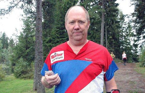 VAR SUVEREN: Sture Ottesen vant H60 med klar margin i KM, sin samtidig var et publikumsløp under prøve-VM i Østfolds skoger. ARKIVFOTO