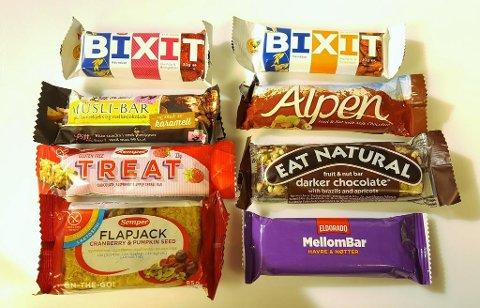 GODTERIBARER: Mye sukker, fett kjennetegner de barene som karakteriseres mest som godteri.
