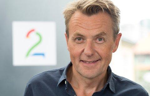 Fredrik Skavlan påTV2s høstlansering i Grieghallen. Foto: Marit Hommedal / NTB scanpix