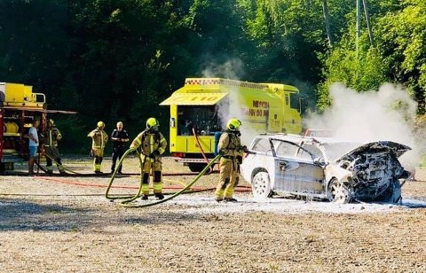 BRANNVERNUKA: Det blir demonstrasjon av redningsarbeid og brannslukking på åpen dag hos brannvesenet i helga.