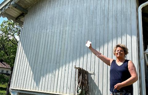 UNIKT? - Kom å mal ditt eget bilde! Sammen skal vi utsmykke denne veggen, sier Anne Ma Buvik.