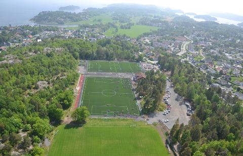 Anlegget på Østerøya Idrettspark, der GØIF holder til.
