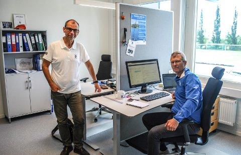 BEKYMRET: Ole-Henrik Andersen og Kjell Einar Andersen i Sarpsborg Idrettsråd er bekymret over at aktiviteten i idretten ikke kommer i gang.