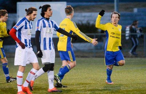 SCORET: Lars Erik Ludvigsen fikk sjansen som spiss og scoret hele seks mål for Trøgstad/Båstad hjemme mot Rolvsøy i en kamp de gule og blå vant hele 10-1. Nå ligger laget godt an til å rykke opp fra 6. divisjon.