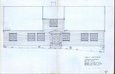 Skisse av Sandetun fra 1970-tallet.