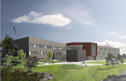 ILLUSTRASJON: Kjerrberget ungdomsskole skal ha plass til 630 elever.