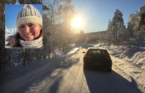 FRYKTER ULYKKER: Det kjøres for fort på Blefjell, mener Beate Bjørge som har hytte på Søndre Ble. Foto: Eigil K. Ramstad/Privat