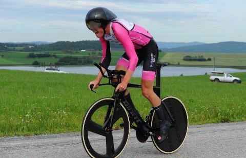 HØYT TOPPNIVÅ: Dennis Gråsvold var med i medaljestriden i helgas U 23-NM på sykkel.