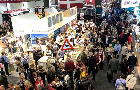 400 000: Her er den norske standen på Grüne Woche, en messe som besøkes av rundt 400 000 mennesker hvert år.