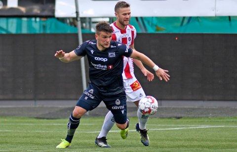 Flamur Kastrati fikk spille fra start for KBK borte mot Tromsø onsdag kveld.
