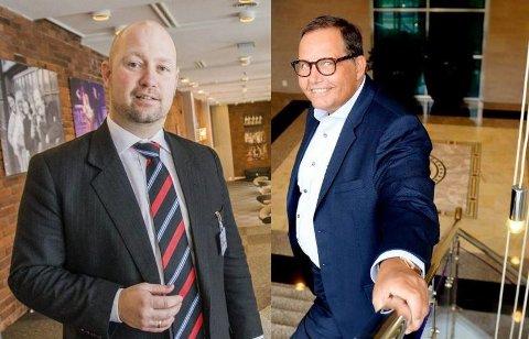 JOBBSØKERE: Anders Anundsen (t.v.) og Per Arne Olsen vil begge ha den samme jobben. Hvem som får den er ikke så viktig for folk.