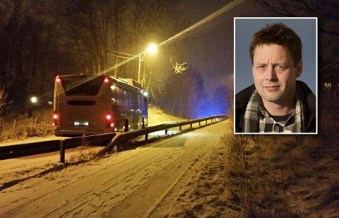 TRØBBEL I BAKKEN: Både yrkessjåfører og vanlige bilister har fått trøbbel i Prestebakken. Nå mener Anders Bjørnsen at noe må gjøres.