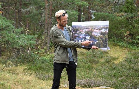 Arkitekt Marius Grimsæth fra arkitektfirmaet Spir presenterte planene for de nye byggene i Kirkerønningen.