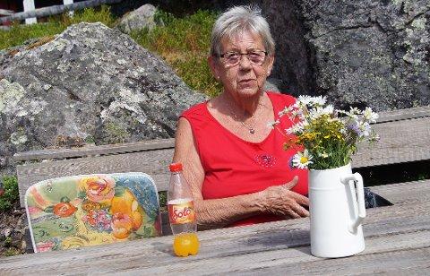 CAMPING FRAMFOR HYTTELIV: Bjørg trives langt bedre på camping i Valdres enn på hytta på Sagvolden.