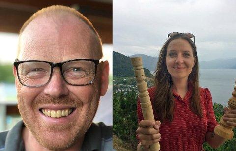 NYANSATT: Haldor Kvale-Skattebo (51) og Beatrice Biueville (26) er ansatt deltid hos Skaperkraft Valdres.