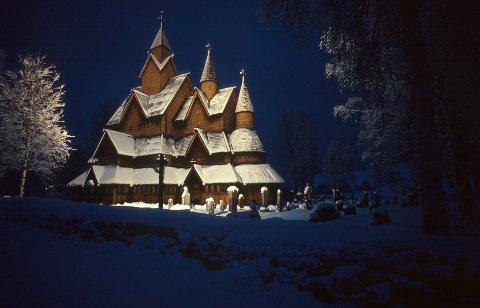 TELEMARK: Heddal stavkirke i Notodden kommune er den største av stavkirkene.  FOTO: Stig Tronvold / Samfoto / NTB scanpix /
