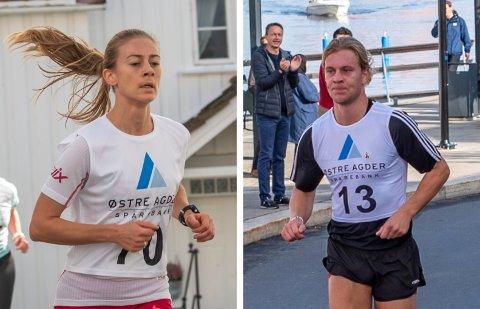Marie Sønstevold og Are Nygårdseter hadde de beste tidene på henholdsvis fem og ti kilometer i Konvoiløpene under Risør Festuke lørdag.